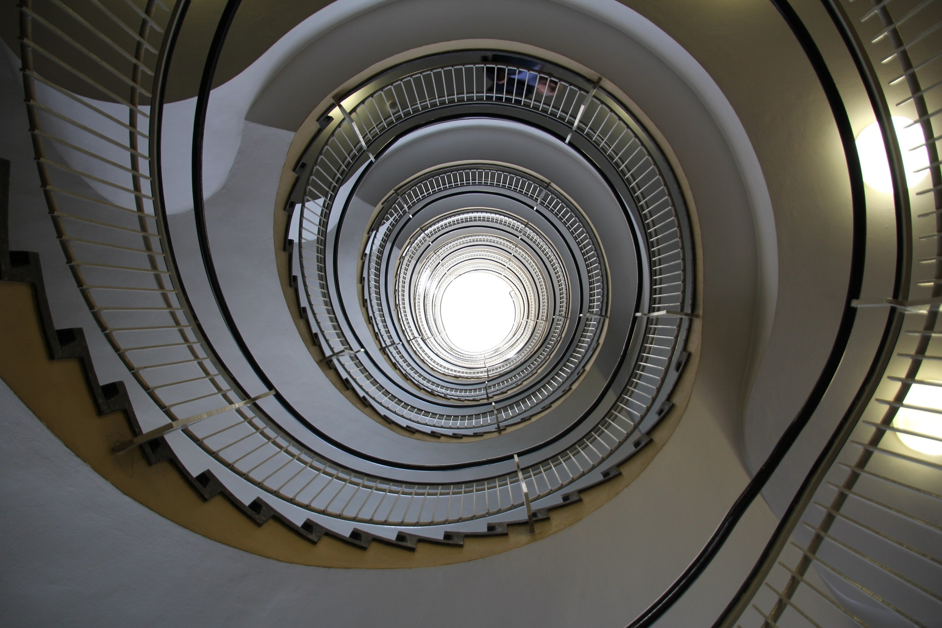 Spiralling Staircase to Roof